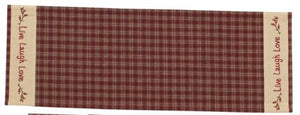 Sturbridge Table Runner 13 x 36 (Live, Laugh, Love (Wine) - Fort Valley Bob's Simple Man Store
