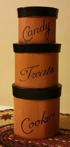 Treat Stackable Boxes, Tan, Set of 3