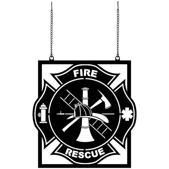 Garden Flag - Metal- Fire & Rescue