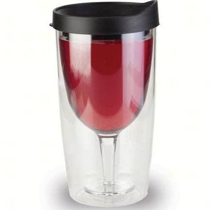 VINGO Insulated Wine Tumbler - Choice of Burgundy or Black