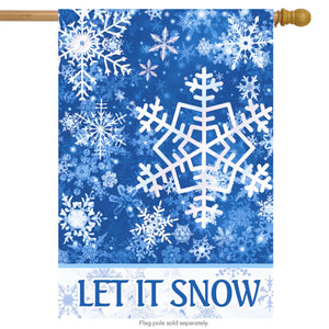 HOUSE FLAG - Let It Snow Winter