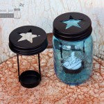 Mason Jars Star Cutout Tea Light Candle Holder Lid for Regular Mouth - Fort Valley Bob's Simple Man Store