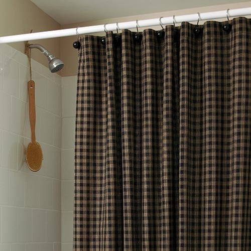 Sturbridge Shower Curtain - BLACK