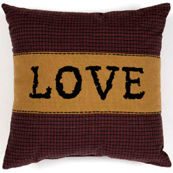 (SALE) HERITAGE FARMS PILLOWS LOVE 12 X 12