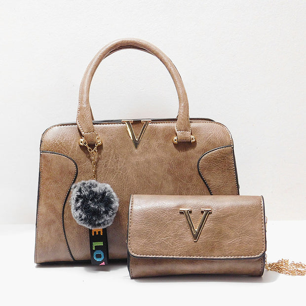 Cartera con crossbody con letra V - Calidad Doble A