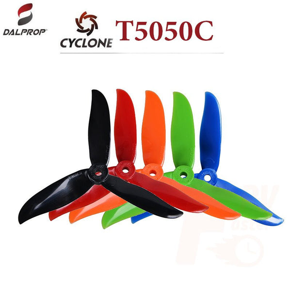 DALProps T5050C Cyclone TRI-BLADE Race Propellers - Nemos Miniquad Supplies