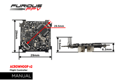 Furious ACROWHOOP Flight Controller - V2-Nemos Miniquad Supplies