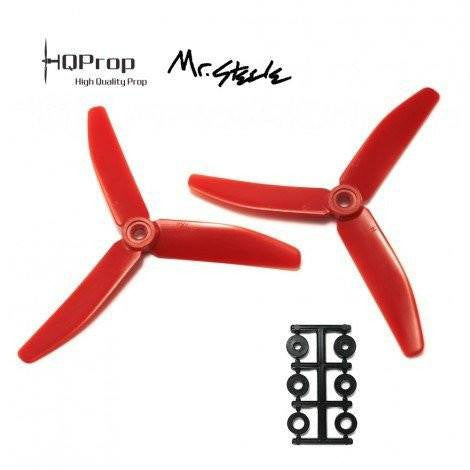 HQProp 5x4x3 - Red (Mr Steele Edition) (4 Pack)-Nemos Miniquad Supplies