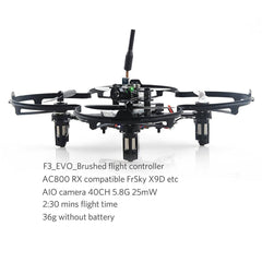 Micro Factory - 90mm Carbon Lite Frame DIY Kit w/ Protector Cage - Nemos Miniquad Supplies