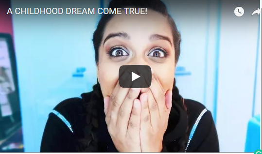LILLY SINGH WEARING IMAGE DU IMAGE BLACK HOODIE CRYSTAL DRESS