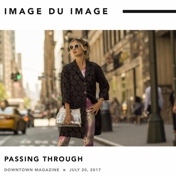 FASHION EDITORIAL: PASSING THROUGH - DOWNTOWN MAGAZINE NYC (LOOK 7 FROM SPRING SUMMER 2017)