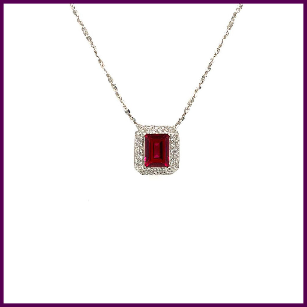 Pure Passion 192597 Silver Necklace With Red Pendant