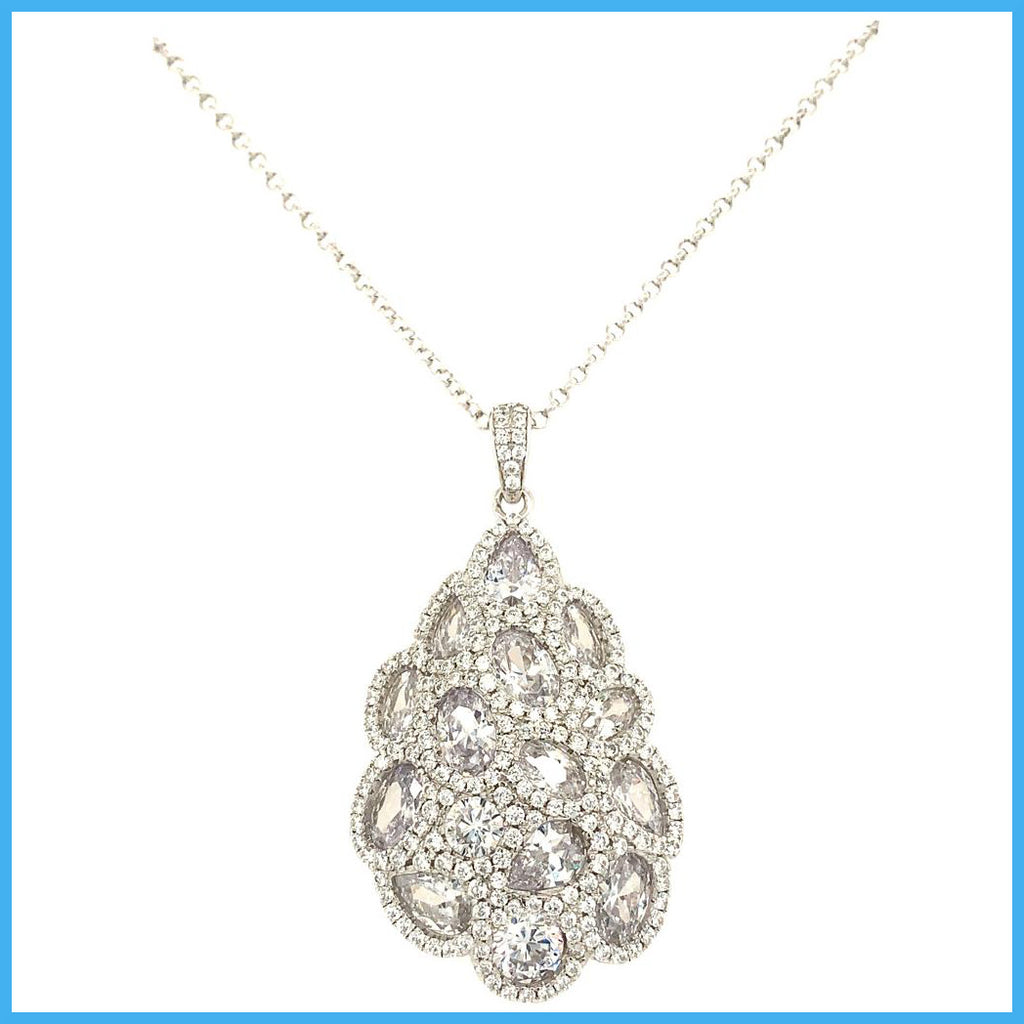 Stella Mia 193617 Silver Fancy Pendant Necklace