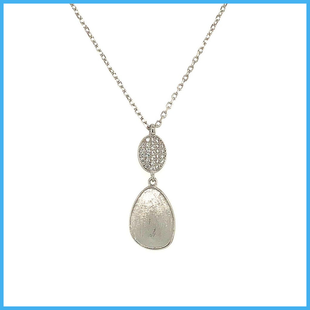 Stella Mia 193626 Silver Necklace with Rounded Pendant