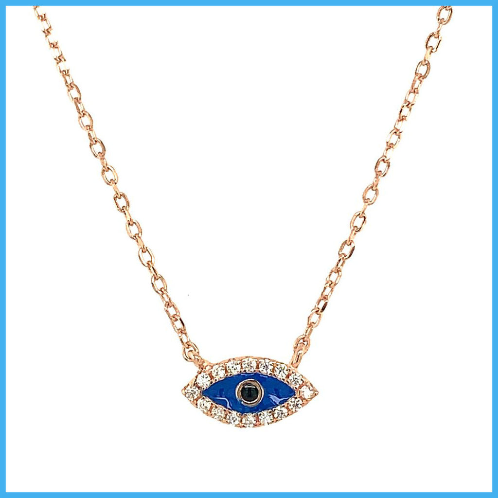 Stella Mia 193637 Rose Gold Eye Pendant