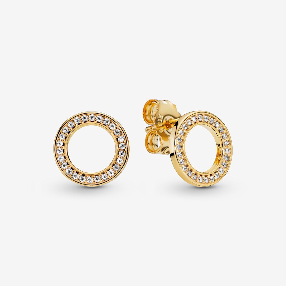 Pandora 268649C01 Circle of Sparkle Stud Earring