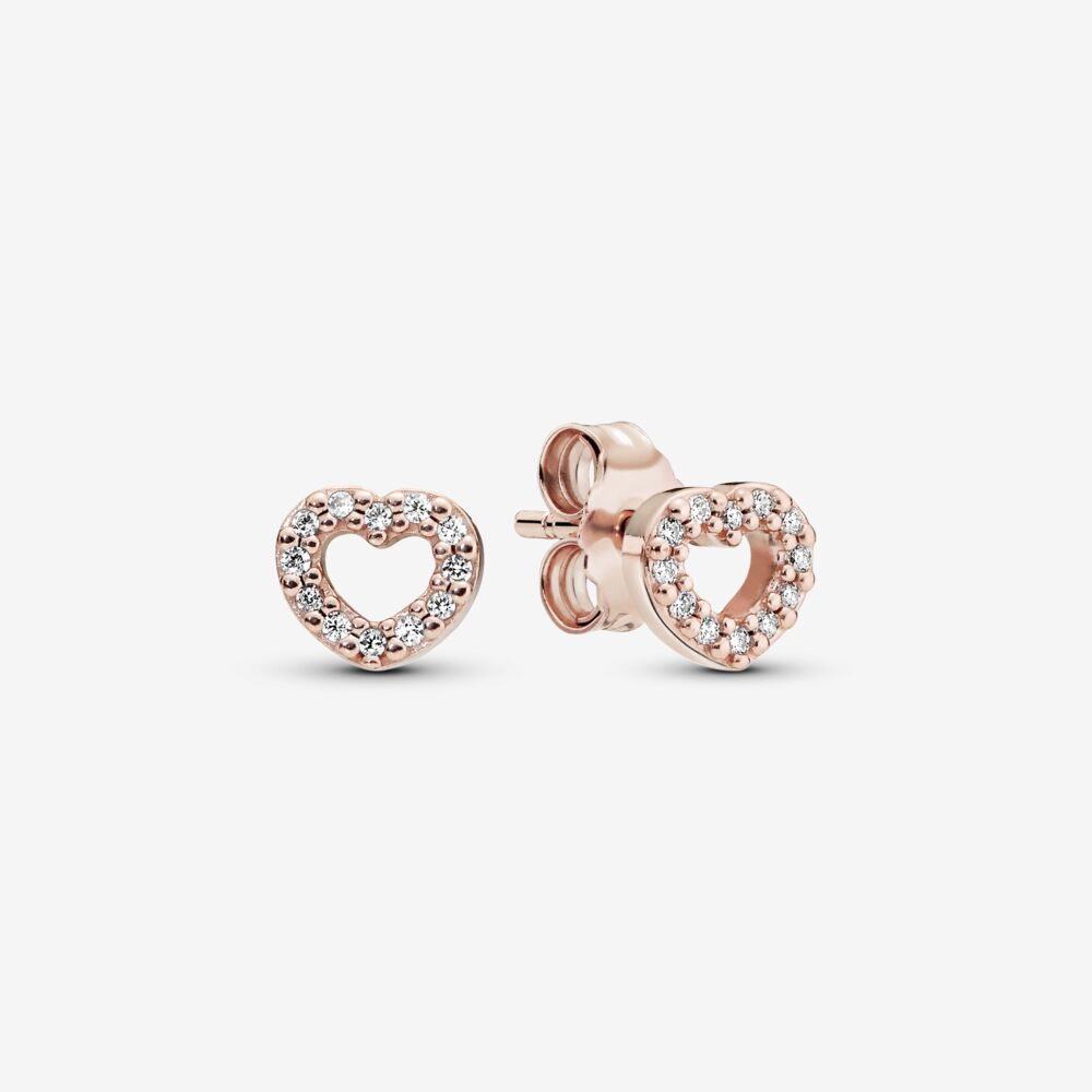 Pandora 280528CZ Rose Gold Signature Earring Studs