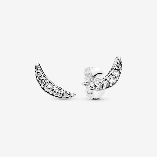 Pandora 297569CZ Sparkling Crescent Moon Earrings