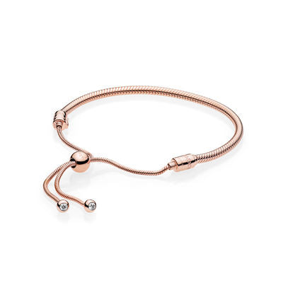 Pandora 587125CZ Rose Gold Moments Sliding Bracelet