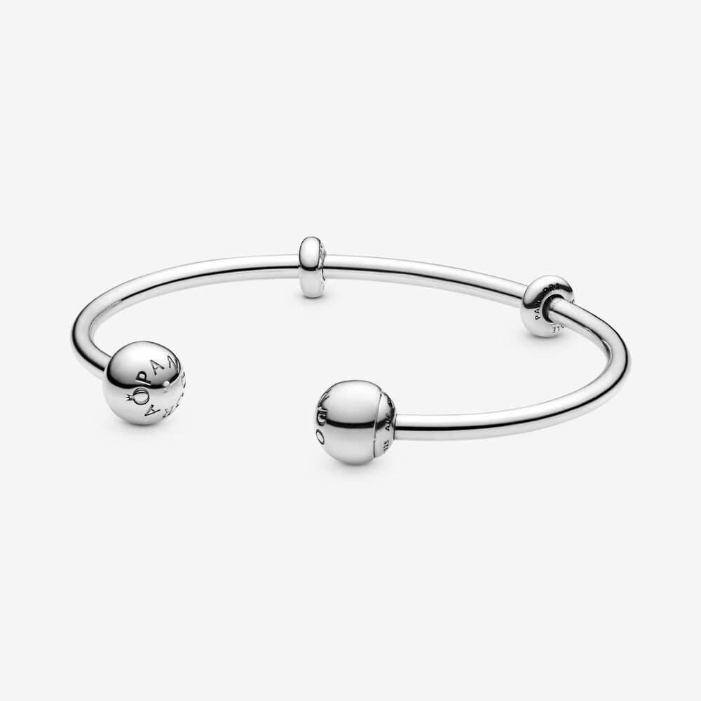 Pandora 596477 Moments Open Silver Bangle