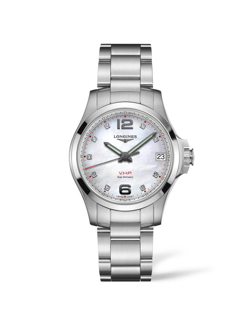 Longines L33164876 Conquest Quartz Womens Watch