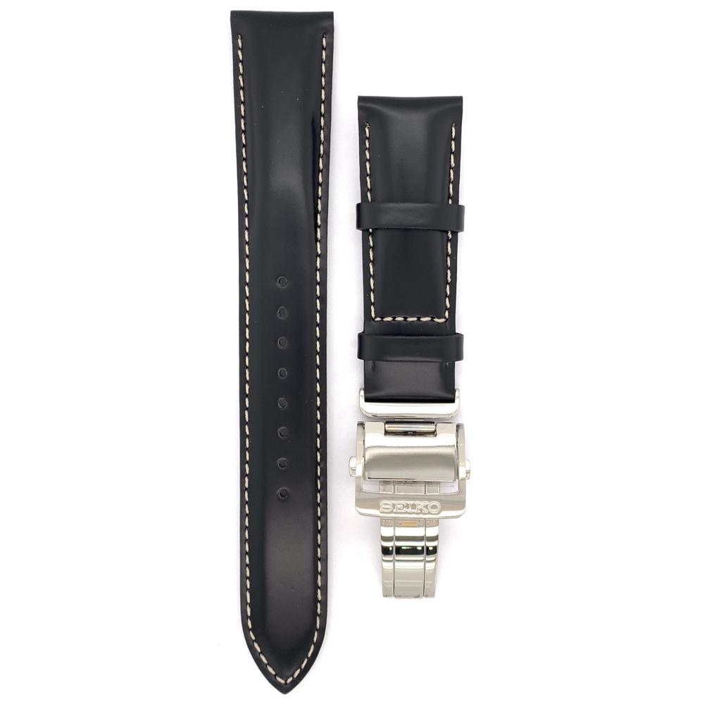 Seiko Alpinist Black Leather Watch Band L0L8011J0