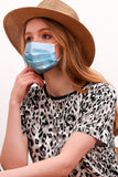 3 LAYER PREMIUM DISPOSABLE FACE MASK SHIP FROM USA ANTIBACTERIAL PROTECTIVE DISPOSABLE DUST MASK. FACE MASK