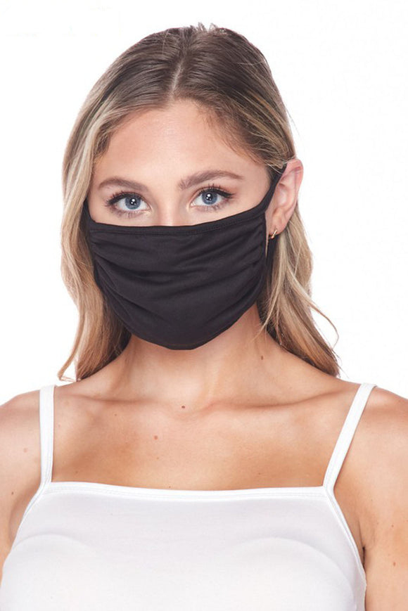 black cotton face mask cover