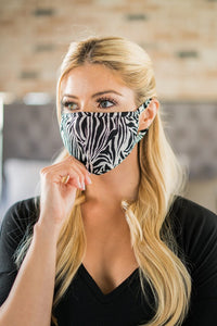 Made In USA Washable Reusable Printed Cotton Face Mouth Cover Mask