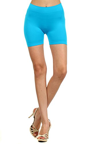 Juniors Seamless Spandex Yoga Basic Fitness Biker Mini Shorts Leggings Juniors