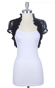 New Short Sleeve Lace Bolero Shrug Cardigan - Fashion Secrets