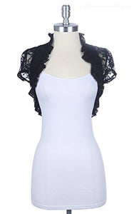 Fashion Secrets New Short Sleeve Lace Bolero Shrug Cardigan