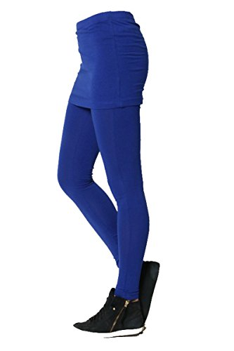 Fashion Secrets Women`s Mini Skirt Layered Legging