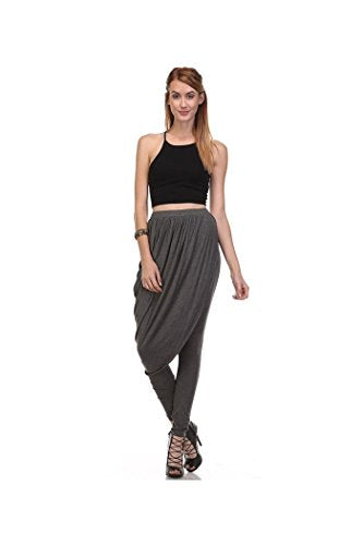 Asymmetric Double Layered Skirted Leggings, Harem Skirt Pants