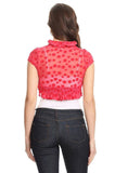 polka dots red bolero shrug