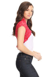 Fashion Secrets Juniors Short Sleeve Lace Bolero Shrug Cardigan