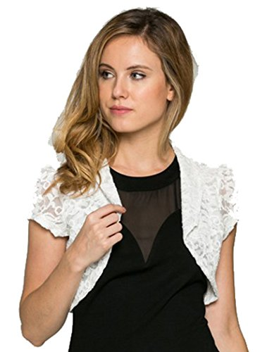 Fashion Secrets Juniors Crochet Lace Cropped Shrug Bolero Cardigan Jacket