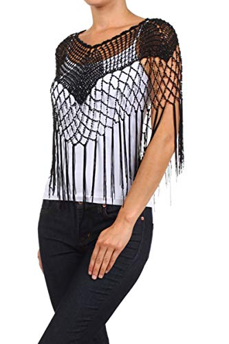 fringed cape bolero shrug