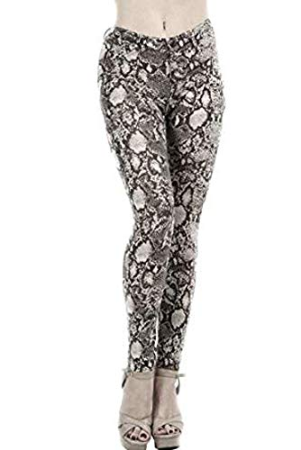 Fashion Secrets Women`s Leopard Cheetah Animal Print Slim Pants
