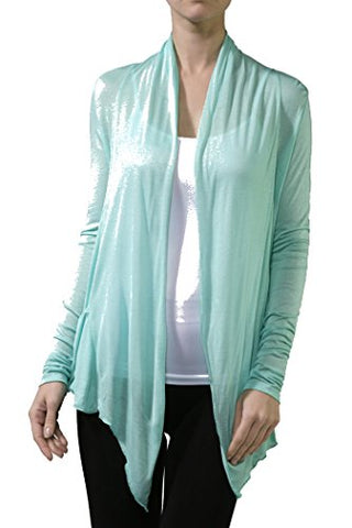 Fashion Secrets Long Sleeve Flyaway Basic Cardigan Jacket with Side Pockets