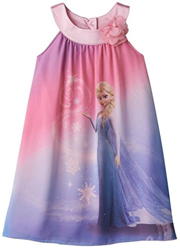 "Disney Girls Frozen ""Elsa"" Dress Pink (6)"