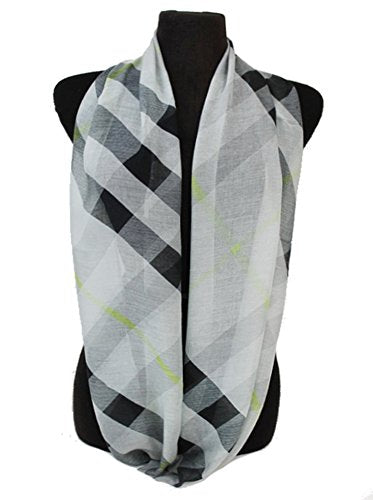 Fashion Secrets Women Checked and Plaid Pattern Super Softness Infinity Scarf