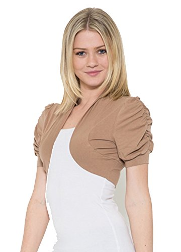 Fashion Secrets Juniors Bolero Shrug Short Cardigan Colors & Plus Sizes