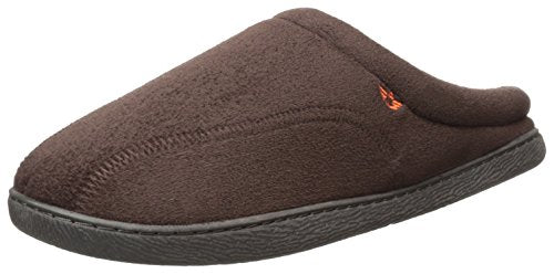 Dockers Men's Christopher, Easy-Off Roll Collar Clog Slipper, Brown, X-Large
