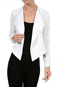 Fashion Secrets Long Sleeve Draped Jacket W Zipper In The Back