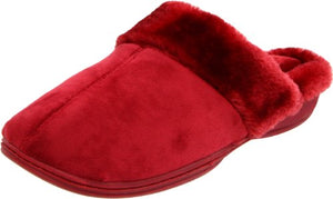 Dearfoams Women's 689 Slipper,Tibetan Red,(7-8) M US