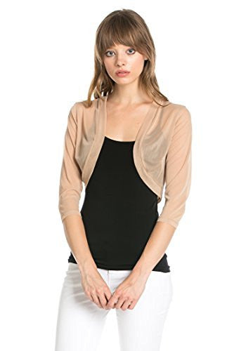 89b20f2c31813 Fashion Secrets Women`s Sheer Chiffon Bolero Shrug Jacket Cardigan 3  – Fashion  Secrets LLC
