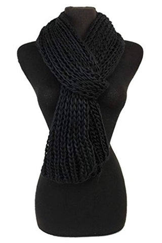 Fashion Secrets Classic Knitted crochet Warm and Comfy Scarf ,neck wraps neck shawls.