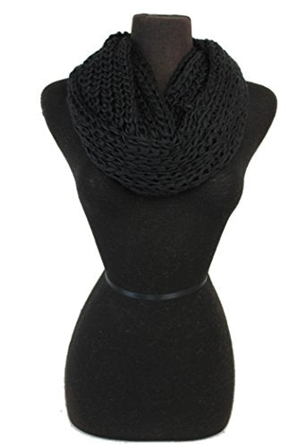 Women Crochet Softness Infinity Scarf Wrap for Winter
