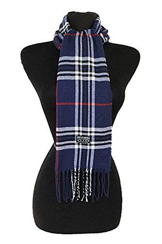 Fashion Secret Soft Checked Plaid Pashmina Capped with Twisted Fringe Scarf Wrap Shawl - Fashion Secrets